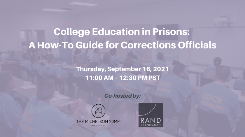 College Education in Prisons: A How-To Guide for Corrections Officials